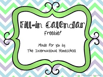 Free Blank Pastel Calendar
