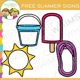 Free Blank Signs For Summer Clip Art