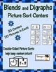 Free Blends and Digraphs Picture Sorting Center Sample Literacy Center