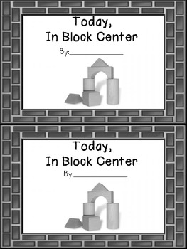 Free Block Center Fill In the Blank book