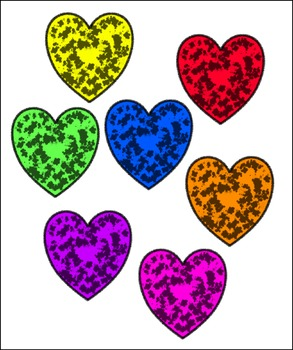 Free Splat Heart Clip Art - Commercial Use Okay - No Credit Needed