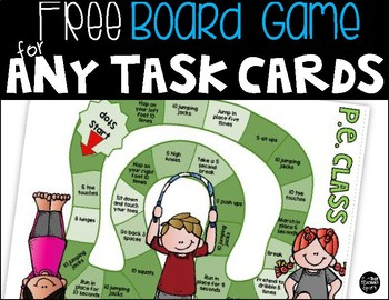 Free Board Game for Any Task Card