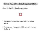 Free-Body Drawings of Forces (Instruction and Practice PPT)