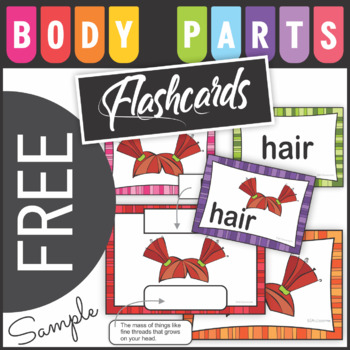 Free Sample Body Parts Word Cards - Flash Cards
