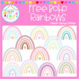 Free Boho Rainbow Clipart