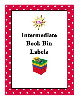 Free Classroom Library Book Bin Labels
