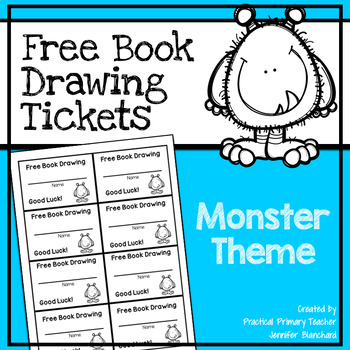 Free Book Drawing Tickets - Monster Theme