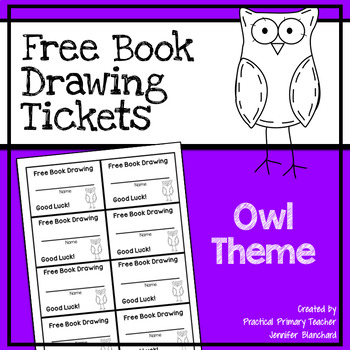 Free Book Drawing Tickets - Owl Theme