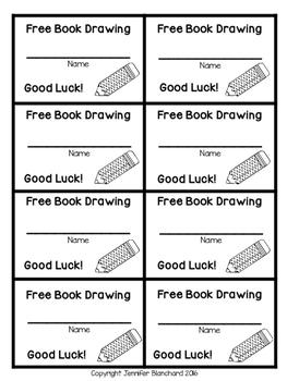 Free Book Drawing Tickets - Pencil Theme