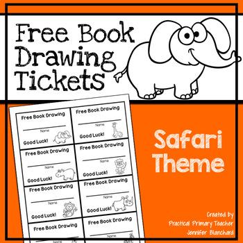 Free Book Drawing Tickets - Safari Theme