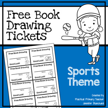 Free Book Drawing Tickets - Sports Theme