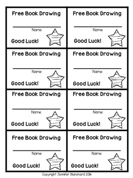 Free Book Drawing Tickets - Star Theme