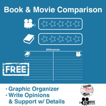 Free! Book & Movie Comparison Worksheet