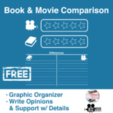 Free! Book & Movie Comparison Worksheet