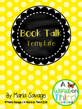Free Book Recommendation Template by AWordOnThird | TpT