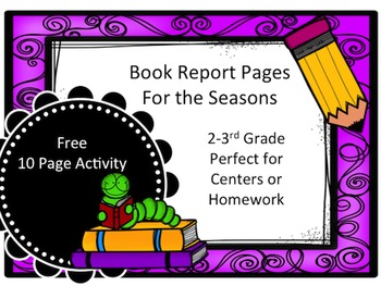 Free Book Report Center Pages