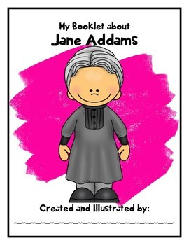 Famous Women in History Booklet: Jane Addams