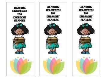 Free Bookmarks - Emergent Reader Reading Strategies