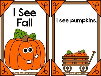 Pumpkin Readers~ I See Fall ~ FREE Guided Reading Books