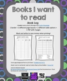 Free- Books I Want to Read Log- 4 different book logs {Black and white}