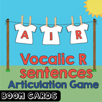 Free Boom Cards | Vocalic R Coarticulation Sentence Deck - AIR | Speech Therapy