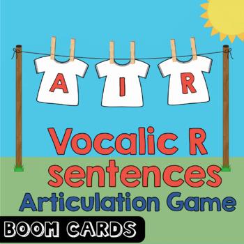 Boom Cards | Vocalic R Coarticulation Sentences - AIR | Speech Therapy