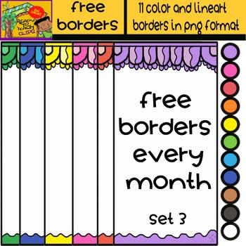 Free Borders - Set 3 - 11 Items