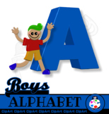 Free Boys Alphabet Clip Art