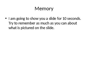 Free Brain Break Memory Game