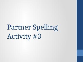 Free Brain Break Partner Spelling