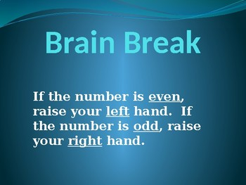 Free Brain Break Right Left Activity