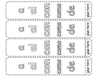Free: Breath Boxes for Spanish sight words 1 - 21 (Palabras de alta frecuencia)