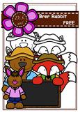 Free - Brer Rabbit Digital Clipart (color and black&white)