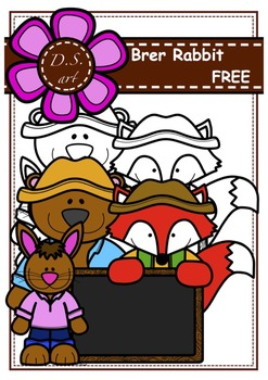 Free - Brer Rabbit Digital Clipart (color and black&white)