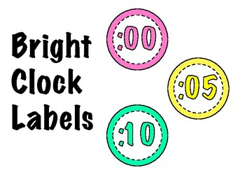 Free Bright Clock Labels