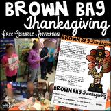 Free Brown Bag Thanksgiving Parent Invitation