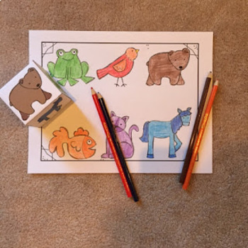 Free Brown Bear Roll and Color