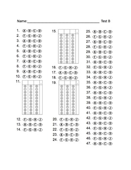 picture regarding Free Printable Scantron Bubble Sheet named Absolutely free Bubble Resolution Sheets for STAAR Train Try out A and B