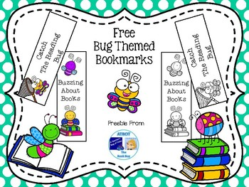 FREE Bug Themed Bookmarks
