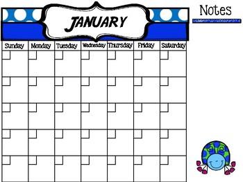 FREE Bug Themed Calendar