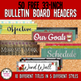 Free Bulletin Board Headers for Middle or High School Clas