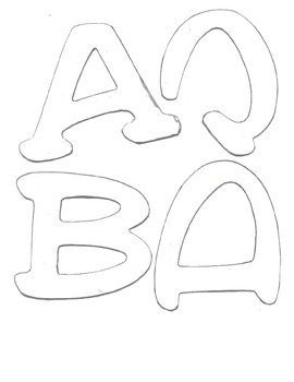 Unique Bulletin Board Letters for Tracing--Part One