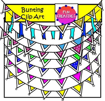 Bunting Clip Art-Fun Creatives