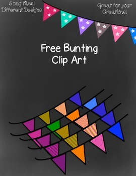 Free Bunting Clip Art ~ Transparent - 5 png images