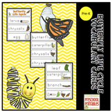 Free Butterfly Life Cycle Vocabulary Cards