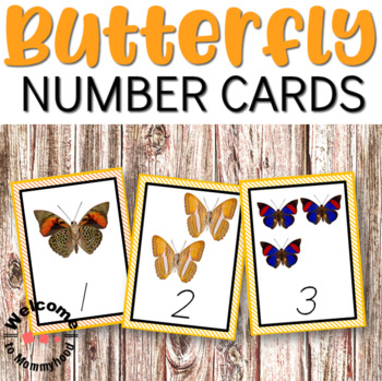 Free Butterfly Number Cards