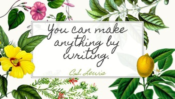 C.S. Lewis Writing Quote Classroom Poster {freebie}