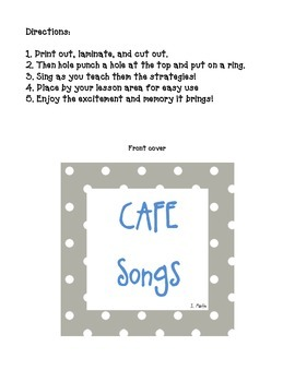 Free CAFE Reading Songs