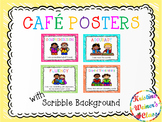 Free CAFE Reading Strategies Headers - Crayon Scribble Version