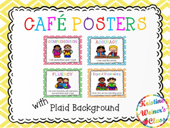 Free CAFE Reading Strategies Headers - Plaid Version
